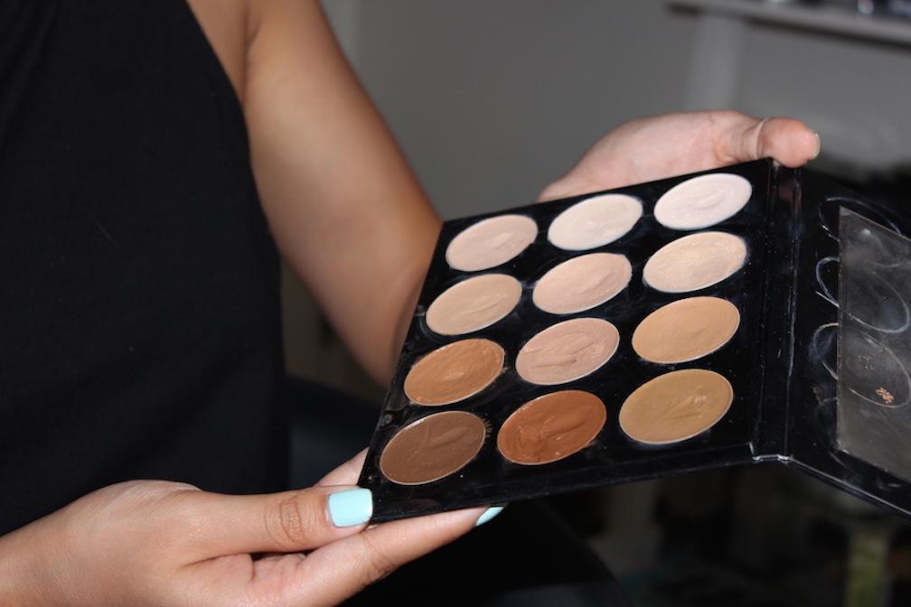 4 melanie mini makeover lashes foundation contour highlight